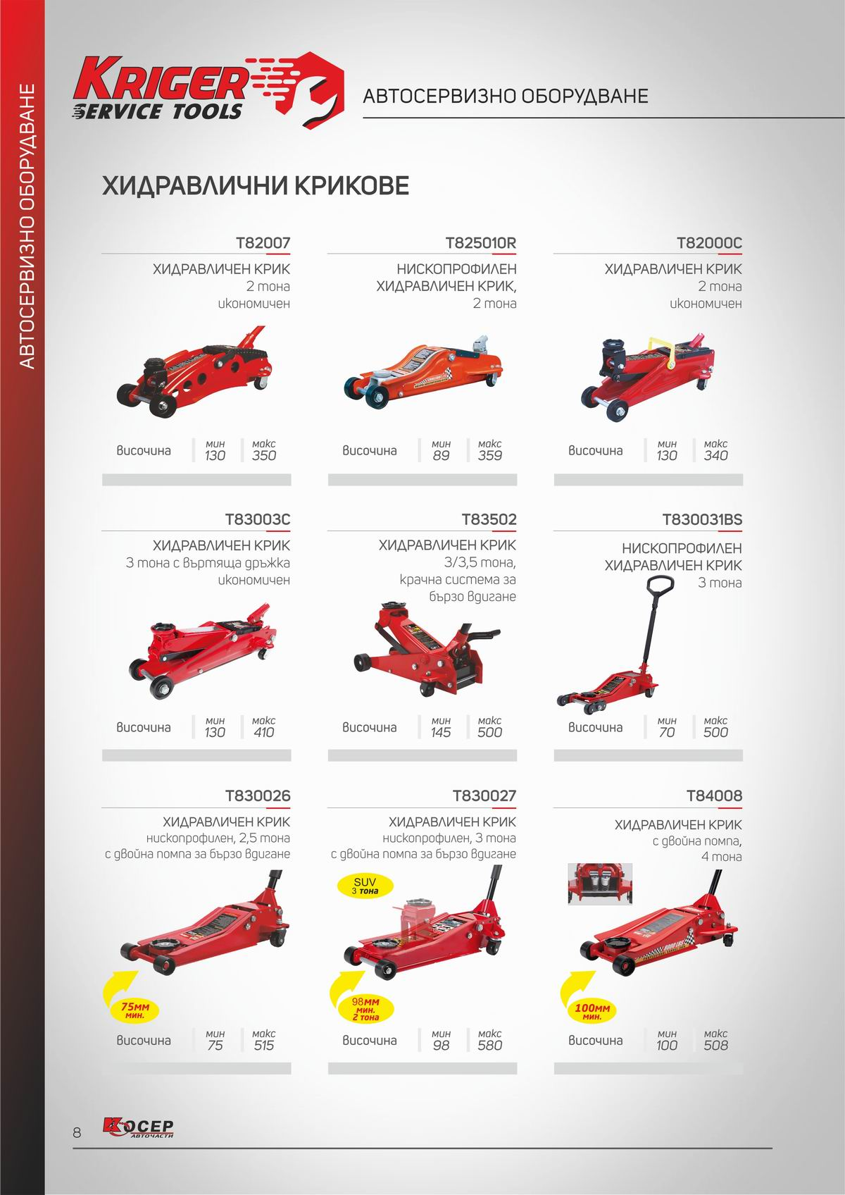 KRIGER Service Tools